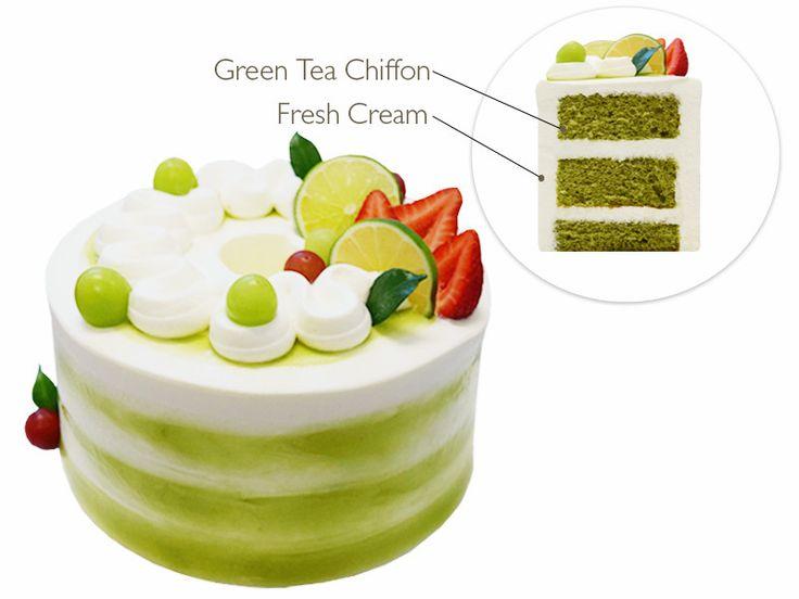 Paris Baguette Bakery Café green tea cake