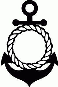 Image result for monogram anchor outline
