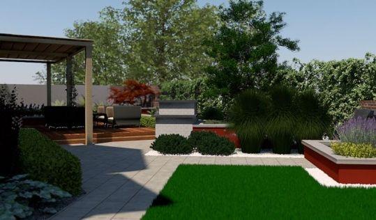projekt ogrodu nowoczesnego1