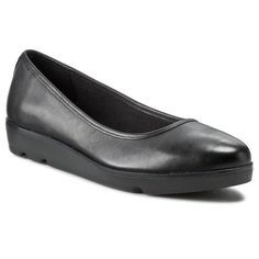 Półbuty CLARKS - Evie Buzz 261155154 Black Leather