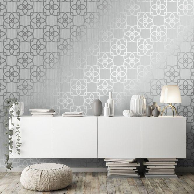 Precious Silks Marrakesh Wallpaper Silver Grey 601536 In 2020 Wallpaper Stick On Wallpaper Wallpaper Uk