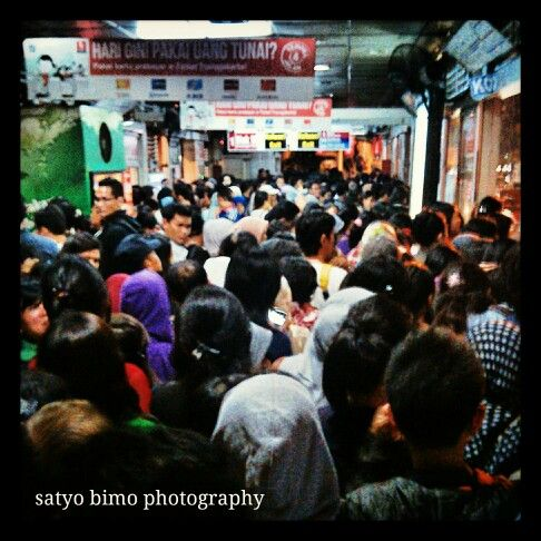 full of passengers on the busway station