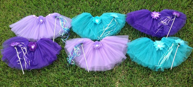 12 Little Mermaid Party Favors, Little Mermaid Tutus, Little Mermaid Costume, Fairy Party Favors, Fairy Tutus, Ariel Birthday, Tinkerbell by partiesandfun on Etsy https://www.etsy.com/listing/239721318/12-little-mermaid-party-favors-little