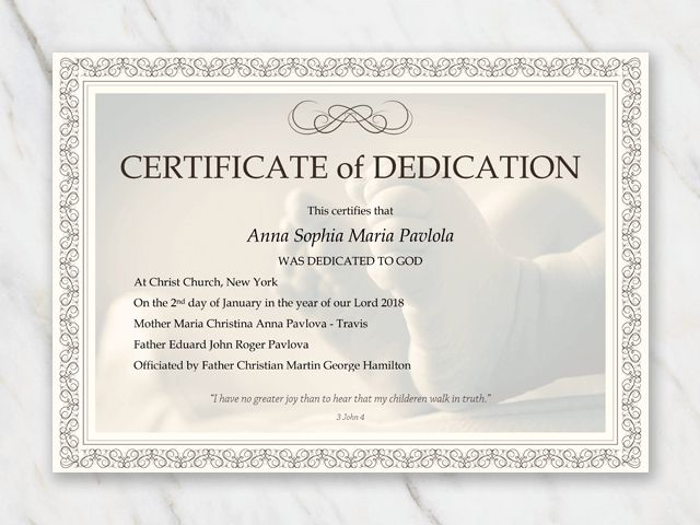 Baby Dedication Certificate Template For Word Free Printable In Baby Christe Baby Dedication Certificate Certificate Templates Free Gift Certificate Template