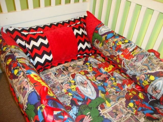 Www.sewunexpectedthreads.etsy.com Superhero Avengers Crib Bedding