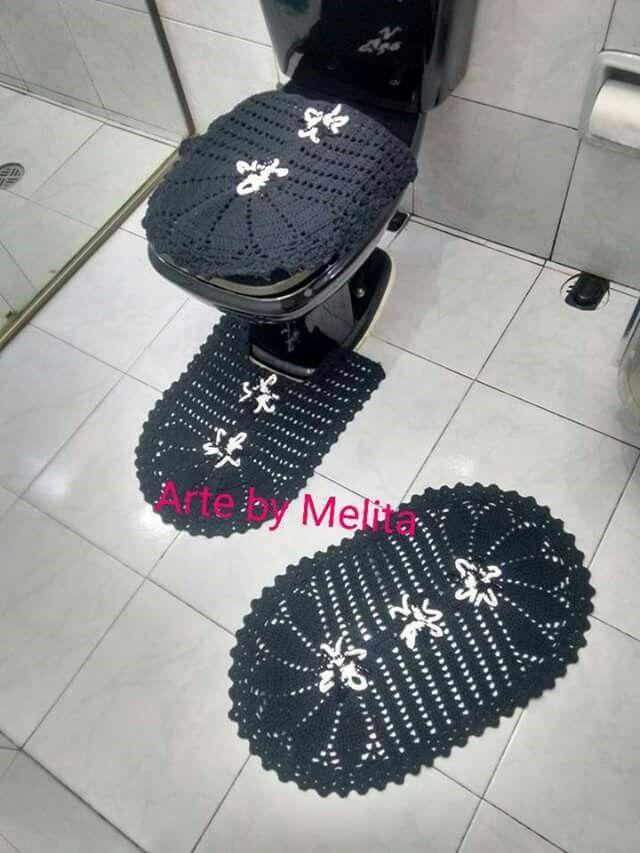 Conjunto para banheiro em crochê - 03 peças