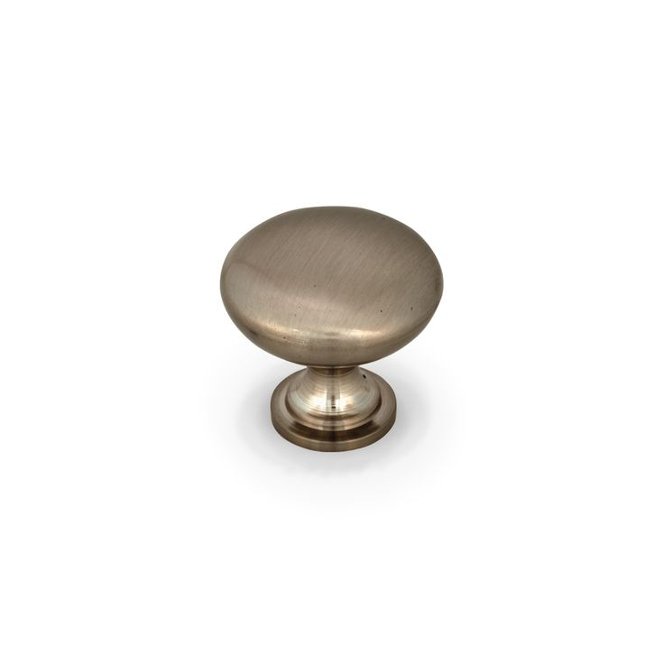 jeffrey alexander diameter knob satin nickel diecast zinc knob measures inches round finish options available mounting hardware included - Jeffrey Alexander Hardware