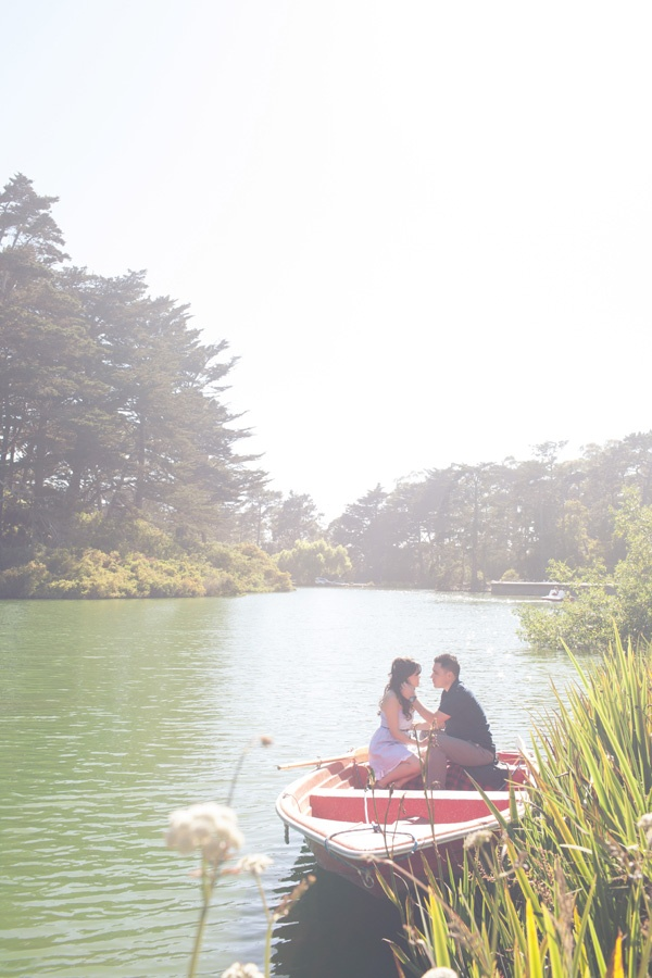Golden Gate Park Row Boat Engagement Session