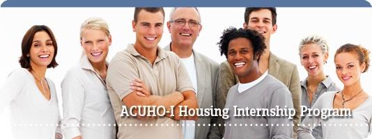 ACUHO-I internships - housing