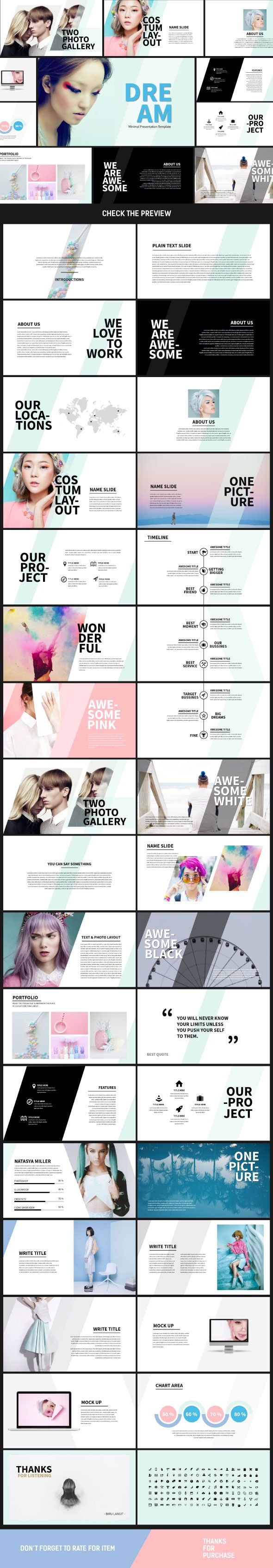 Dream Presentation Pptx Template - Miscellaneous PowerPoint Templates
