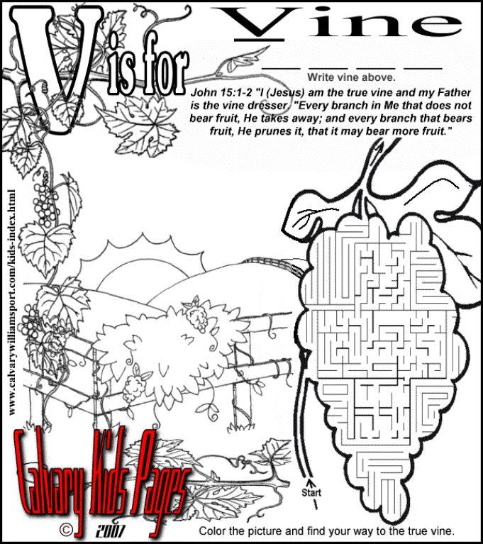 Jesus Is The Vine Maze Printable