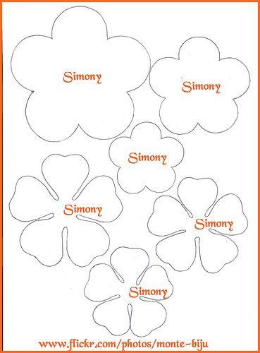 flores de feltro passo a passo - Pesquisa Google