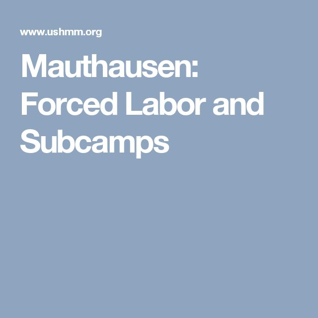 Mauthausen: Forced Labor and Subcamps