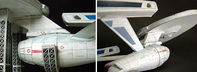 Star Trek - The Enterprise Free download and template. http://speckyboy.com/2011/04/08/40-amazing-papercraft-templates-for-the-geek-inside-you/