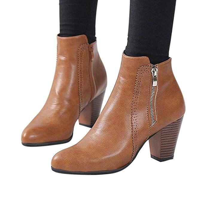 07071a106760f Amazon.com: Shoes Clearance Sale !! FarJing Women Vintage Chunky ...