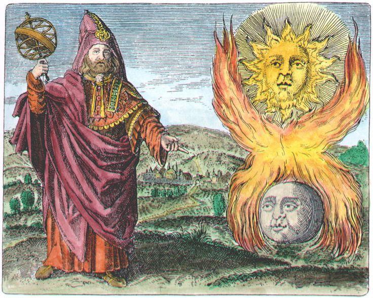 [from Symbola Aureae Mensae by Michael Maier] Hermes Trismegistus