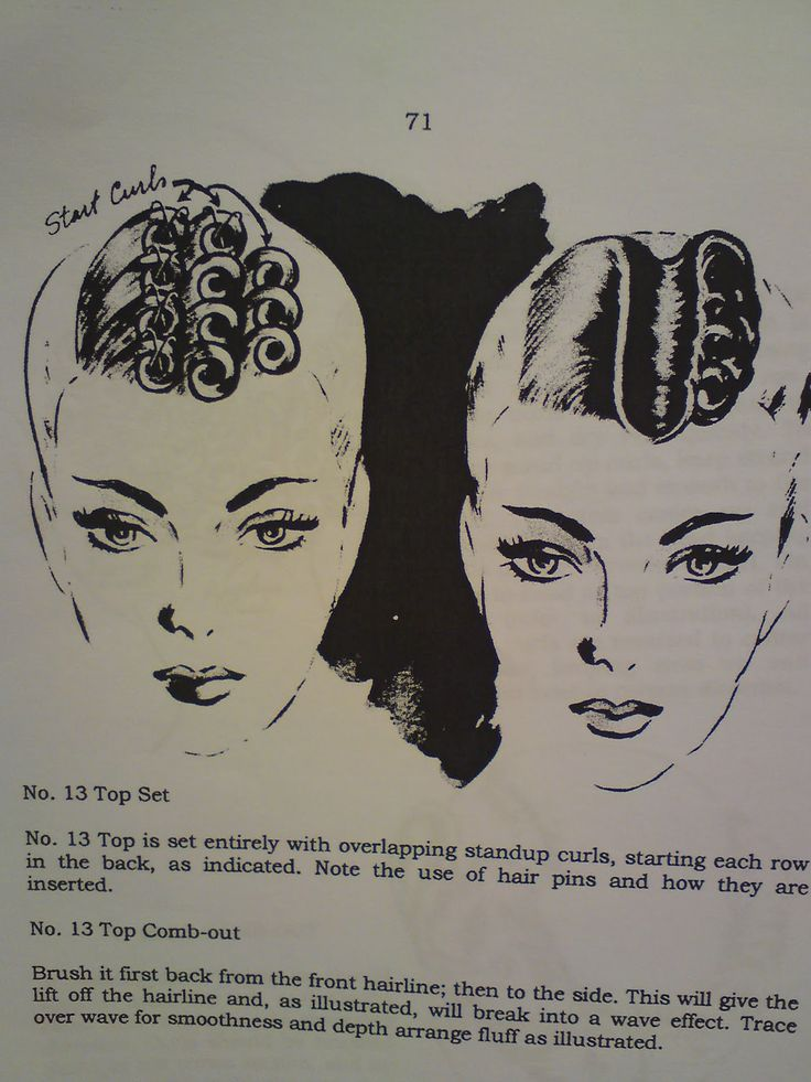 pin curl set pattern with its comb out appearance.