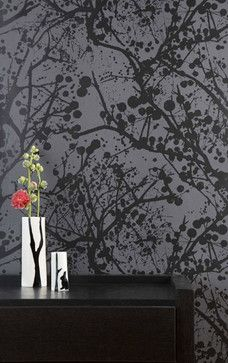 Wilderness (Black Lacquer) Wallpaper by Ferm Living - contemporary - wallpaper - Ferm Living Shop