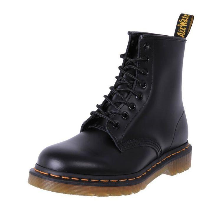 Genuine Dr. Martens Docs #drmartens  Uni-Sex Leather 8 Eye Boot 8 Ups Black Smooth Cheap - $165.95 (AU)