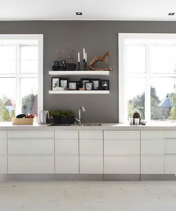Grey Kitchen Walls With White Cabinets: 33 Best White Kitchen Cabinets Gray Tile Floors Images On