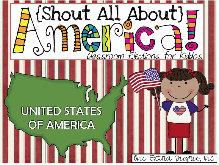Shout All About America: Classroom Elections for Kiddos!  (An Election Unit)