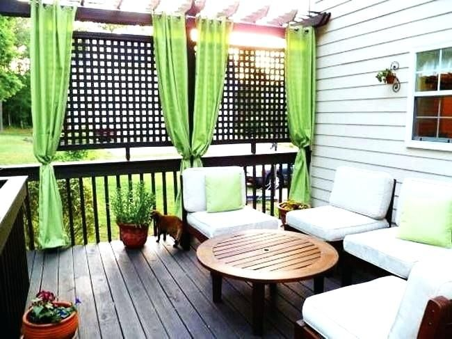 Outdoor Deck Privacy Curtains Google Search With Images