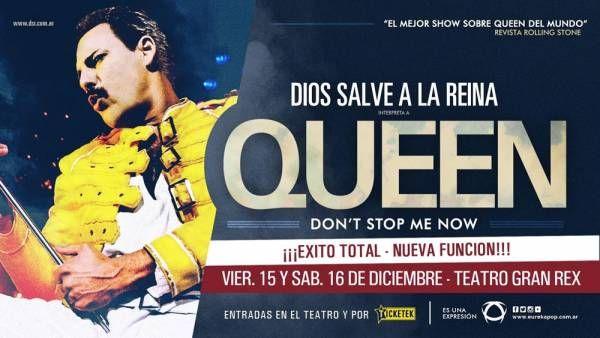 DIOS SALVE A LA REINA agrega nueva función el 16 de diciembre en GRAN REX