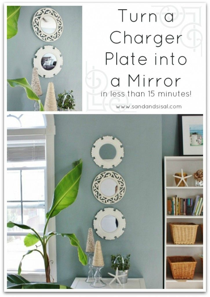 How to Turn a Charger Plate into a Mirror @K D Eustaquio Wilson -Sand & Sisal