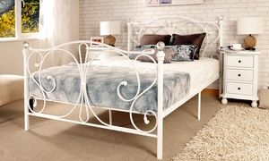 Crystal Bed Frame and Mattress