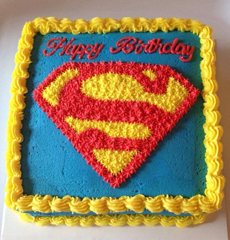 Superman cake f delsedagen pinterest for Superman template for cake
