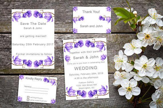 Purple Passion - Printable wedding suite
