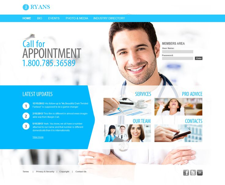 medical office business website inspiration | medirent | pinterest, Skeleton