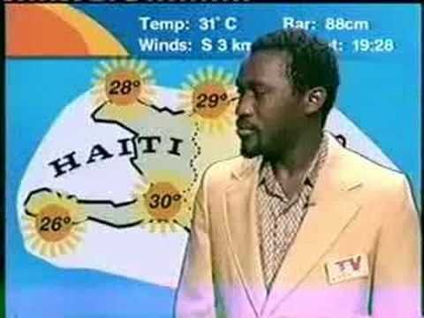 Haiti News - Crazy Weather Man Laugh - YouTube This video will never cease to make me laugh.