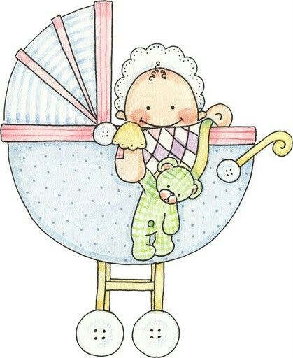 Dibujo cochecito de bebé | Bautizo | Pinterest