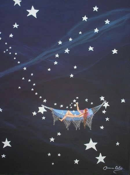Mens Silk Pocket Square - Scrovegni Stars Square by VIDA VIDA f63YdS