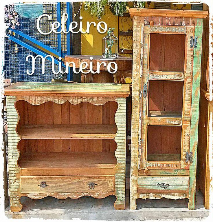 Móveis Rústicos em madeira maciça de demolição Celeiro Mineiro