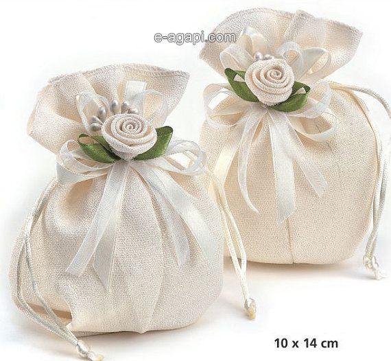 Wedding favors ecru bombonieres matrimonio bomboniere by eAGAPIcom