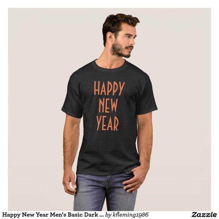 Happy New Year Men's Basic Dark T-Shirt