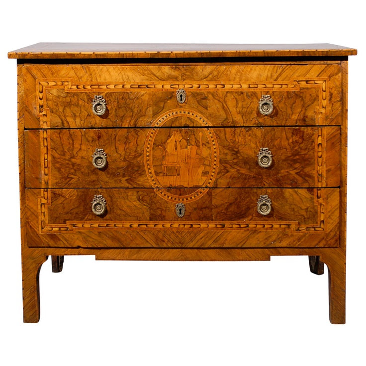 fine 18th century italian neoclassical commode with marquetry drawers chest of drawers and. Black Bedroom Furniture Sets. Home Design Ideas