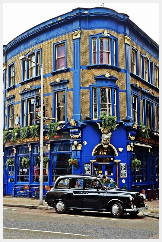 "Famous ""Shipwright's Arms Pub"" in London, England ~ Photo by Ebingul ~ Pub is just a stone's throw from Tower Bridge"
