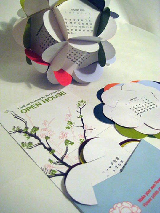 "19.2012 calendar design ""Plant it Green"""