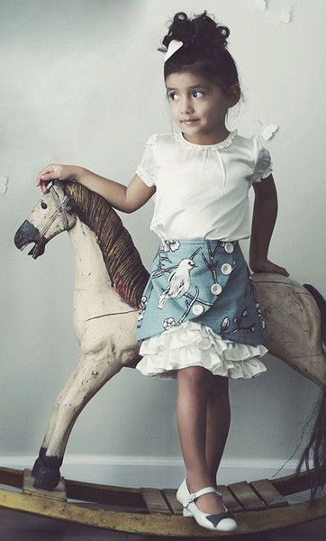 GIrls Ruffle Skirt Sewing Pattern: Vivienne by Violette Field Threads