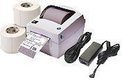 Zebra LP2844 LP 2844 Thermal Label Barcode Printer Pack