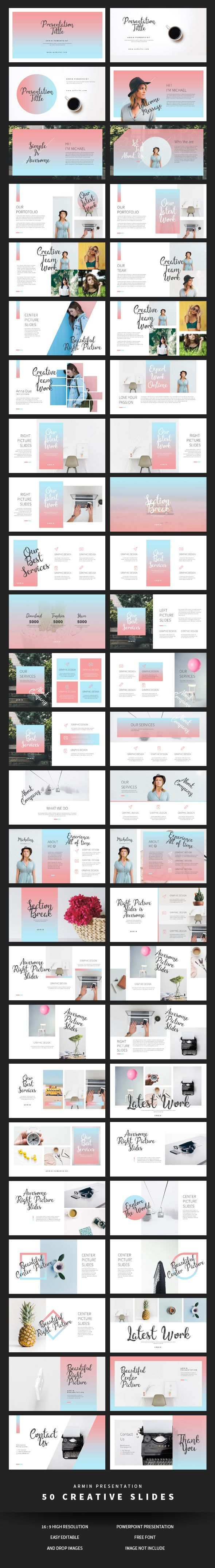 Armin Powerpoint - #Creative #PowerPoint Templates Download here: https://graphicriver.net/item/armin-powerpoint/20349977?ref=alena994