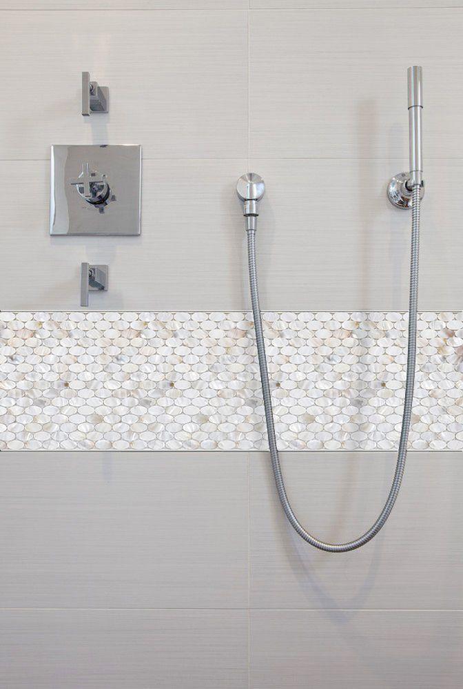 tile mother pearl shower liner wall backsplash on amortech