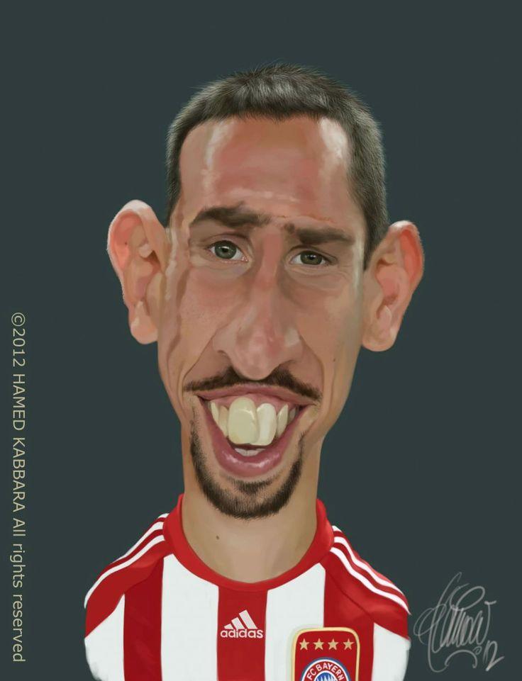 Caricatura de Franck Ribery