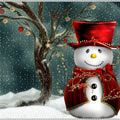 The Best Free Christmas Wallpapers for Your Computer: Festive Snowman by DesktopNexus