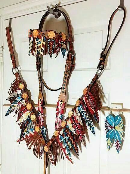 If only this would hold up to me trail riding!! -> Feather tack set