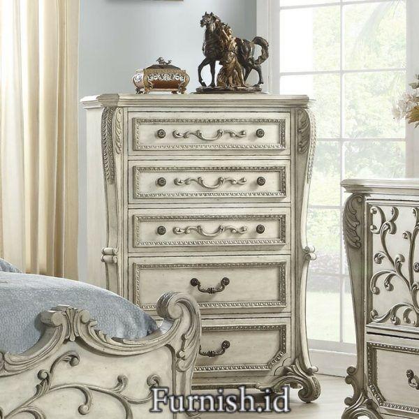 Kamar Set Klasik Carollo Klasik Kepala Tempat Tidur Romantis