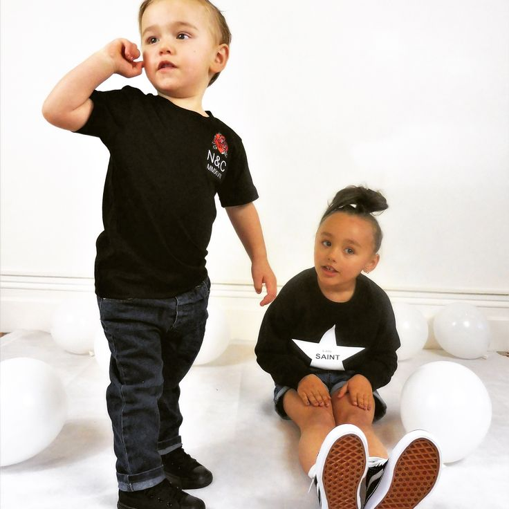 "Naut & CROSS ""Ready to Launch"" Tee in black and  The "" Little Saint"" Crew  nautandcross.com"